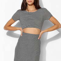 Sparkle & Fade Front Cutout Stripe Dress - Urban Outfitters