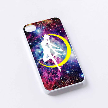 Sailor Moon Logo Galaxy iPhone 4/4S, 5/5S, 5C,6,6plus,and Samsung s3,s4,s5,s6