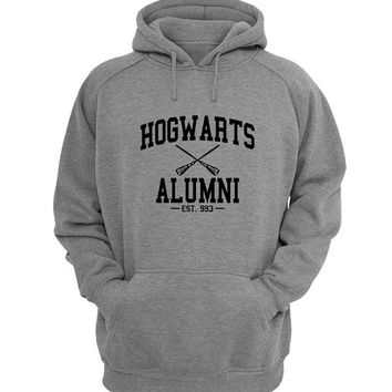 hogwarts alumni Hoodie Sweatshirt Sweater Shirt Gray for Unisex size with variant colour