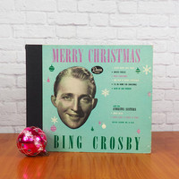 1945 Bing Crosby Merry Christmas Record Album Boxed Set by Decca Records #A-550