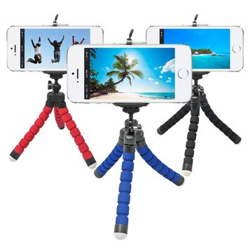 Mini Flexible Tripod Camera Octopus Monopod Portable Mount Tripod+Phone Stand Holder For iPhone 6s 7 Xiaomi Samsung HTC