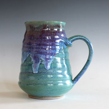 LARGE Pottery Mug, 22 oz, unique coffee mug, handmade cup, handthrown mug, stoneware mug, wheel thrown pottery mug, ceramics Sold Out