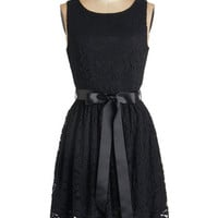 ModCloth LBD Mid-length Sleeveless A-line Lovely as Lychee Dress in Black