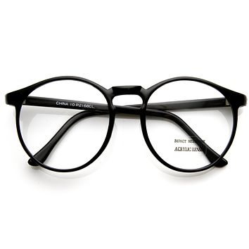 True Vintage Deadstock Round P3 Optical RX Clear Lens Glasses 7204