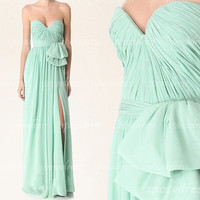 Mint green prom dresses, dresses from prom, Prom dresses 2014, long prom dress, modest prom dress, sexy prom dresses,bridesmaid dress, RE280