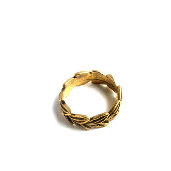 """""""Wreath Piece"""" Gold Ring"""