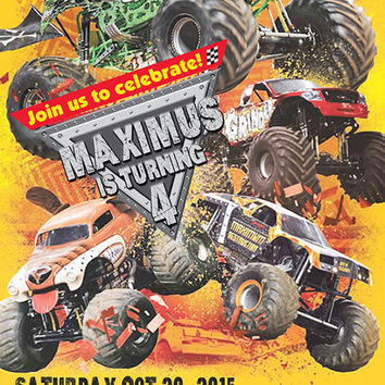 Monster Jam Birthday Invitations gangcraftnet