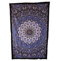 Handicrunch Hippie Mandala Star Tapestry, Wall Tapestrie, Home Decor Wall Hanging, Large Table Runner Bed Cover Indian Art, Hippie Wall Hanging, Cotton Bed Sheet, Decor Art Wall Hanging