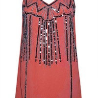 Katy Coral Sequin Shift Dress