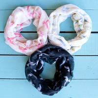 Birds Of A Feather Print Infinity Scarves