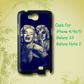 Marilyn Monroe Day Of The Dead - iPhone 5 Case, iPhone 4 Case, iphone case, Samsung Galaxy S3 , Galaxy note 2 case, note case, galaxy case