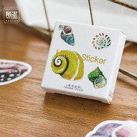 45 pcs pack Story of Seashell Decorative Stickers Adhesive Stickers DIY Decoration Diary Stickers Box Package