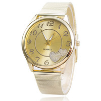 Women Love Sports Gold Watch with Diamond Best Gift 412