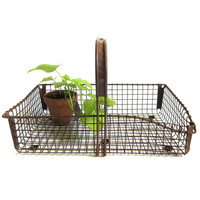 Three Potato Four - Wire Mesh Garden Gathering Tote