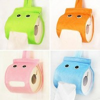 Buyinhouse Cute Lazy Little Elf Paper Towel Holders Tools for Home Bedroom Bathroom Kitchen Use