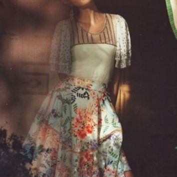 Jardin Skirt by Ranna Gill Botanical Motif