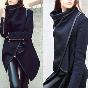Mouse over image to zoom Have one to sell? Sell now Fashion Womens Slim WOOL Warm Long Coat Jacket Trench Windbreaker Parka Outwear