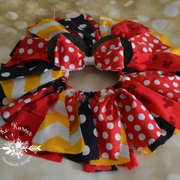 Minnie mouse/Minnie tutu/Birthday tutu/Minnie ears/Fabric tutu/Smash cake/Scrappy tutu/Mickey mouse/Custom tutu/baby outfit/Birthday outfit