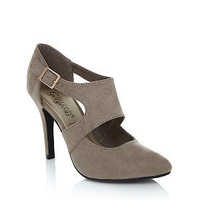 Stone Cage Cut Out Pointed Heels