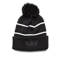 SUPRA Footwear™ | Official Store | TITLE BEANIE | BLACK / BLACK