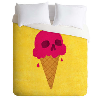 Nick Nelson Skull Scoop Duvet Cover