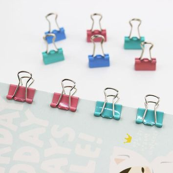 60 PCS 15mm Random Colored Metal Binder Clips for Notes Letter Paper Books Home Office School File Paper Organizer