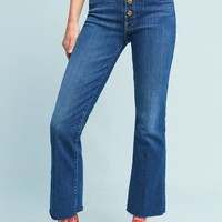 Mother The Hustler Ultra High-Rise Ankle Jeans