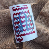 State Decal State Initials Car Decal Monogram Decal Monogram Vinyl Vinyl Decal Monogram Gift Monogram sticker Car sticker Car Initials