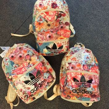 adidas Originals Backpack In Flowers Prints