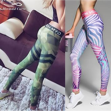 Patterned fitness leggings