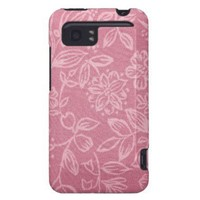 Coral Pink With Floral HTC Vivid Cases