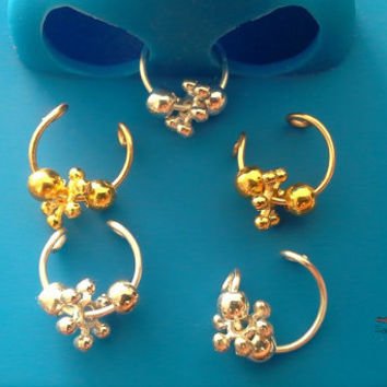 Tribal septum faux nose ring piercing imitation (Clip on) nose ring No piercing required, choose a colour-For him/For her