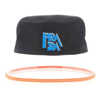 90s Translucent Bucket Hat by Prada