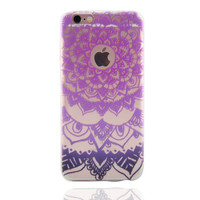 Purple Lace Mandara iPhone 7 7Plus & iPhone se 5s 6 6 Plus Case Cover +Gift Box-87