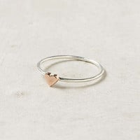 Anthropologie - Wee Heart Ring, Rose Gold