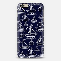 Sail Away (deep blue) iPhone 6 case by Lisa Argyropoulos | Casetify