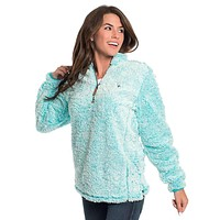 Heather Sherpa Pullover with Pockets in Oasis by The Southern Shirt Co.