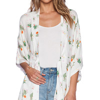 Somedays Lovin How Sweet It Is Cactus Kimono in White