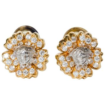 Gianni Versace Vintage Tiara Collection Earrings, 1990S