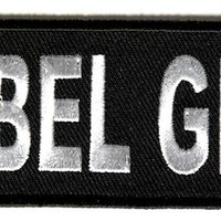 "Embroidered Iron On Patch - Rebel Girl 4"" Patch"