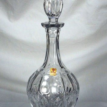 ON SALE Beautiful Vintage NACHTMANN 24% Lead Crystal Decanter Mint Condition