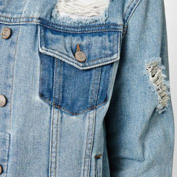 PacSun Light Destructed Jacket at PacSun.com