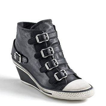 Ash Genial Buckle Wedge Sneakers