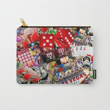 Gamblers Delight - Las Vegas Icons Carry-All Pouch by gx9designs