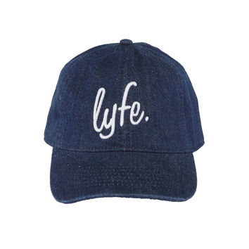 "LYFE Script - Dark Denim ""Dad"" Cap"