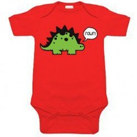 Rawr! Dinosaur Red One Piece for babies at My Baby Rocks