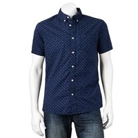 Urban Pipeline Dot Print Button-Down Shirt
