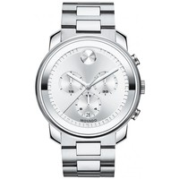 Movado Bold Large Silver-Tone Chronograph Watch