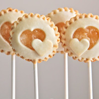 Heart Cutout Pie Pops by cakepopbakeshop on Etsy
