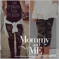 Mommy and Me Best Selling CAMO leggings available for KIDS!!!!